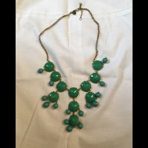 Ily Couture green bubble necklace NWOT